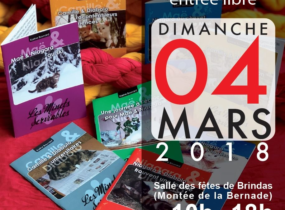 Cap de l'Étang Éditions présent au salon du livre de Brindas