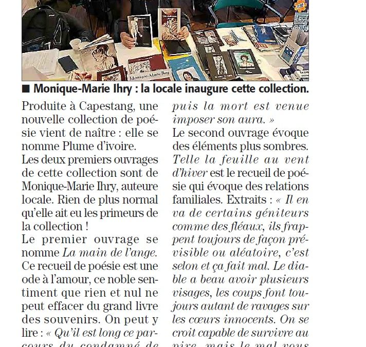 """Naissance de la collection """"Plume d'ivoire"""""""