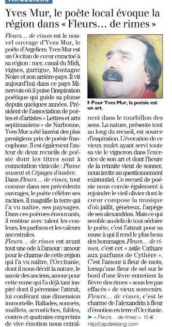 Yves Mur à les honneurs de la presse