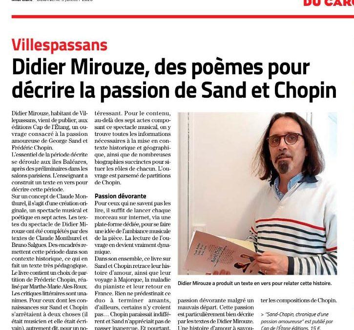 Didier Mirouze à l'honneur de la presse