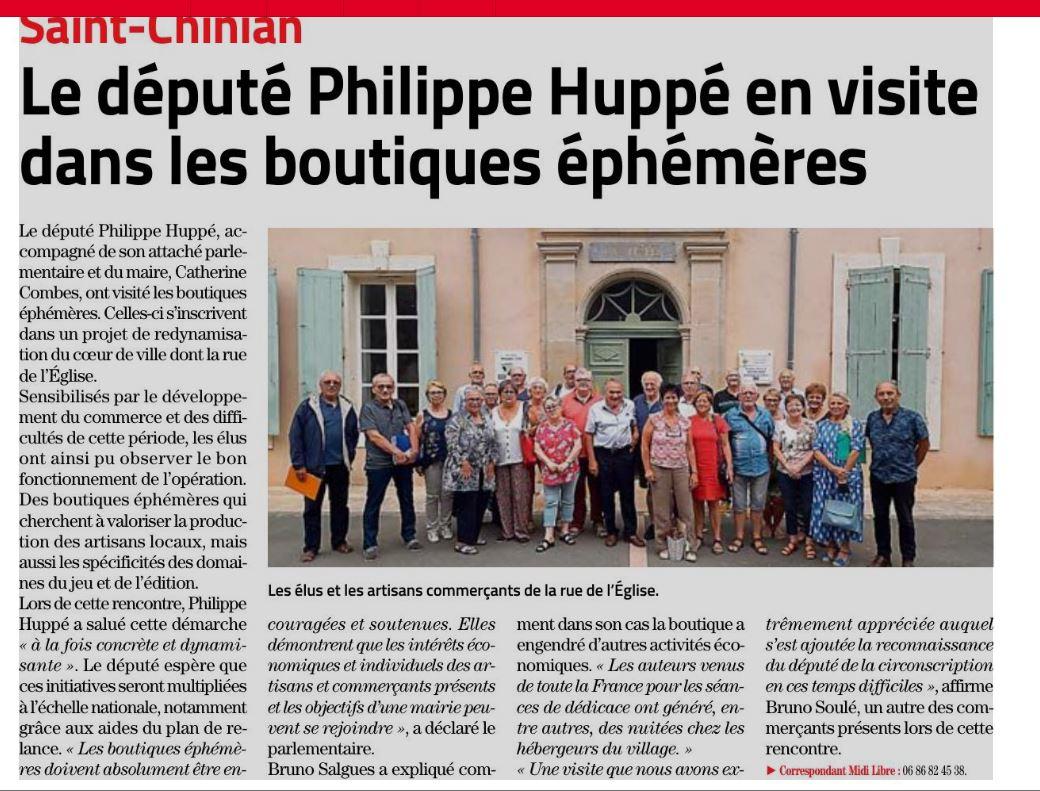 Philippe Huppé à Le député Philippe Huppé en visite dans les boutiques éphémères