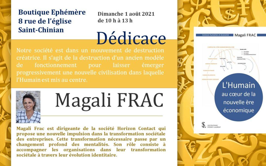 Magali FRAC en dédicace le dimanche 1er août