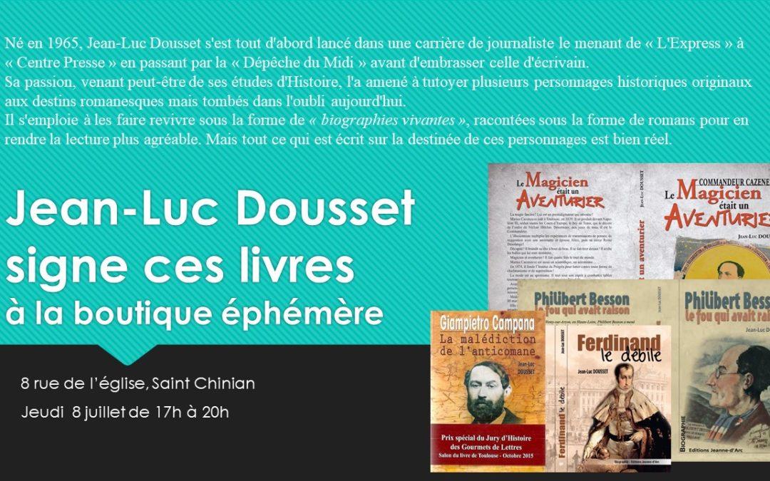 Signature de Jean-Luc Dousset à Saint Chinian