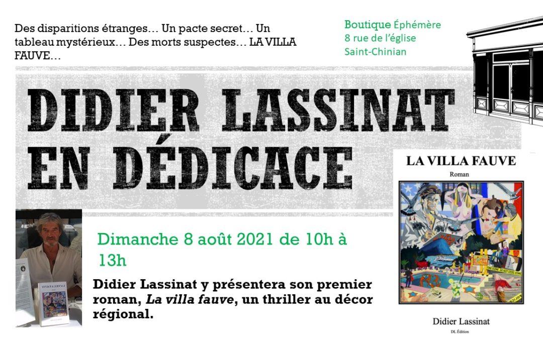Didier Lassinat en dédicace à Saint-Chinian