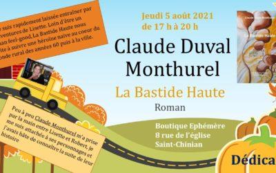 Dédicace Claude Monthurel / La bastide haute, 5 août